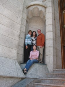 Mom and Dad were married at the Salt Lake Temple almost 26 years ago.