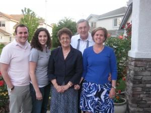 Brett, Sarah, Grandma, Grandpa & Karen