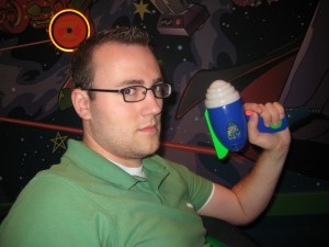 Brett getting ready to defeat Zurg