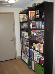 Bookcases at the entrace of our apartment