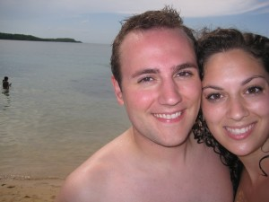 Brett & Sarah at Seven Seas Beach