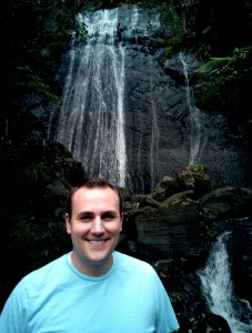 Brett and the first waterfall in El Yunque