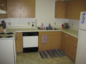 Our first apartment, January 2008