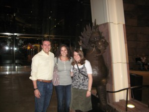 Brett, Sarah and Abigail (sorry for the blurry picture)